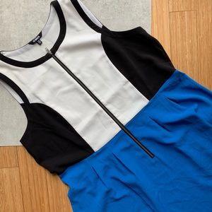 BB Dakota Colorblock Front Zipper Dress